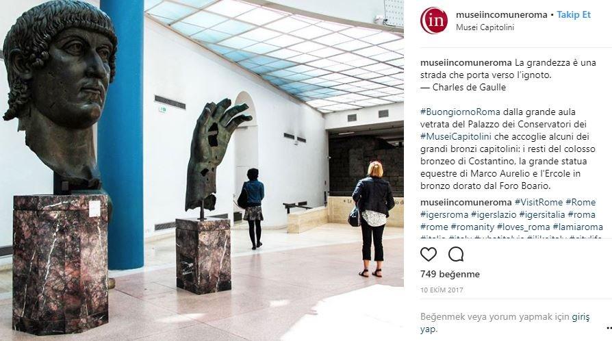 Müzede bulunan en önemli eserlerden biri de Konstantin'in heykeli.