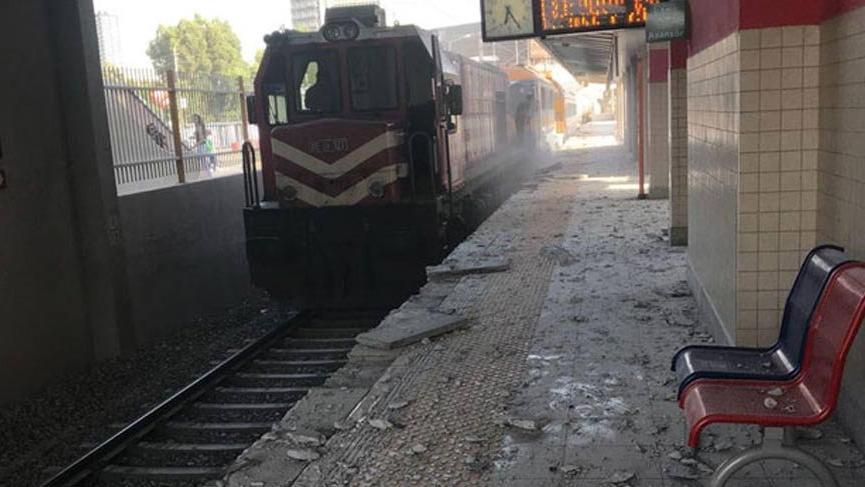 Açık unutulan merdiven istasyona zarar verdi, 1 yolcu yaralandı