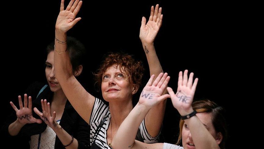 ABD Kongresi'nde Trump'ın göçmen politikasına yönelik protesto! Yüzlerce kadına gözaltı
