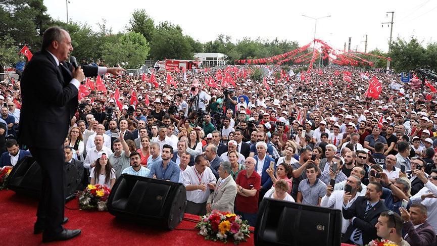 Son Dakika… Muharrem İnce Diyarbakır'da halka hitap etti
