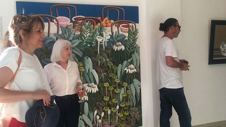 Sanatçı Nadide Akdeniz sergisi Bodrum'da açıldı
