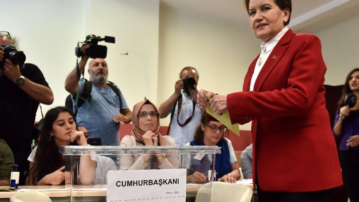 Cumhurbaşkanı adayı Akşener oy kullandı