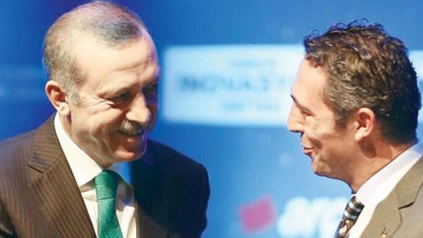 Cumhurbaşkanı Erdoğan'dan Fenerbahçe Başkanı Ali Koç'a flaş telgraf