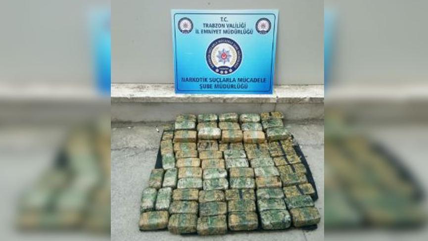 Trabzon polisinden uyuşturucu satıcılarına darbe