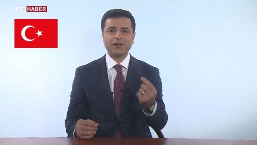 Selahattin Demirtaş TRT'de propaganda konuşması yaptı