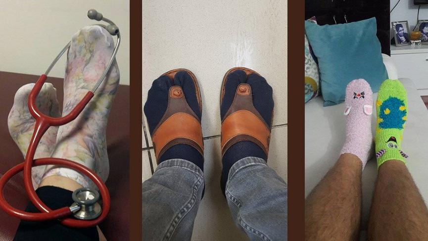 Doktorlar bugün 'çılgın çoraplar' giyiyor. İşte nedeni…
