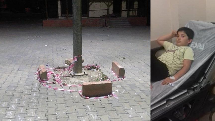 Parkta oynayan çocuk elektrik akımına kapıldı