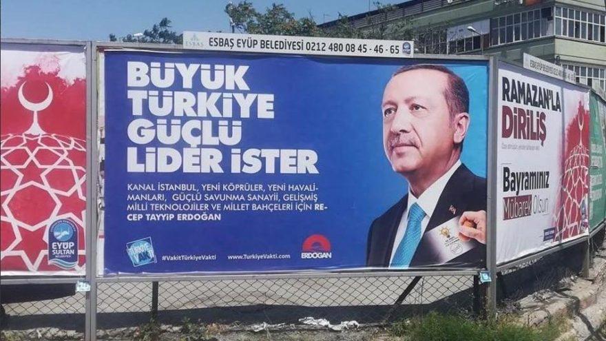 AKP afişlerinde inanılmaz hata!