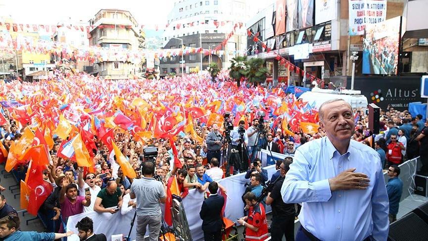 Cumhurbaşkanı Erdoğan Zonguldak'ta miting düzenledi