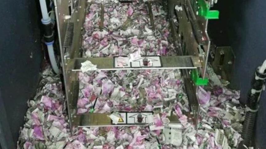 ATM'yi açınca şoke oldular! Fareler 9 milyon TL'lik parayı yedi!