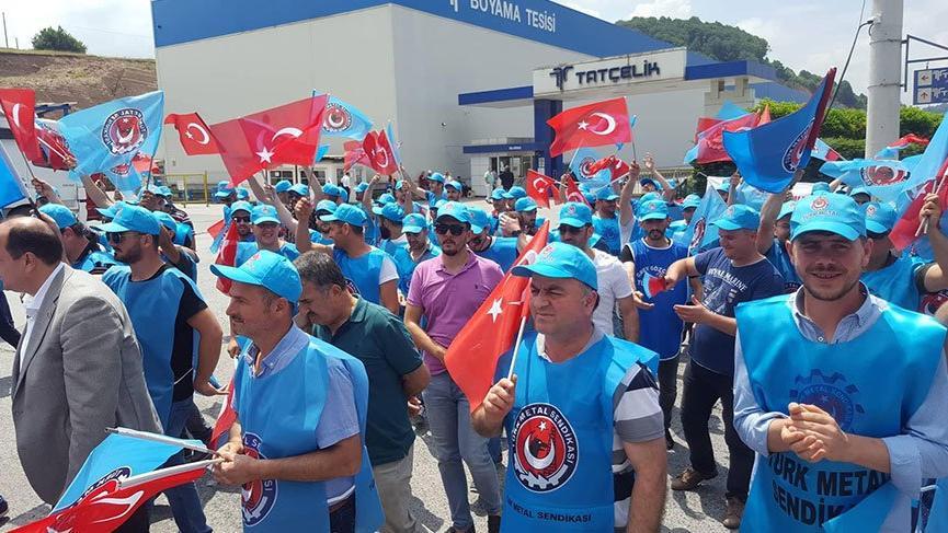 Ereğli'de metal işçileri greve başladı