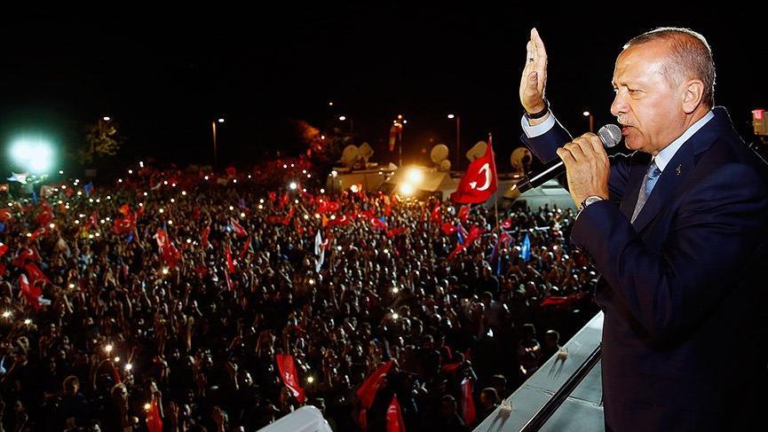 Erdoğan başkanlığını ilan etti