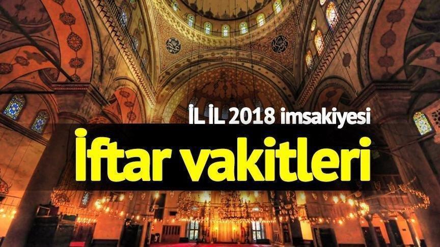 İl il iftar vakitleri: İstanbul, İzmir, Ankara imsakiyesi… Oruç saat kaçta açılacak?