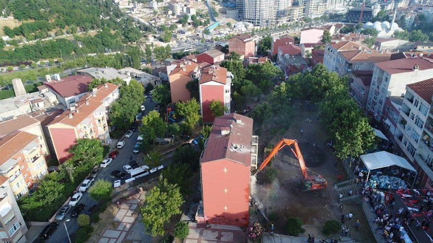 İstanbul Okmeydanı'ndaki Kentsel Dönüşüm Projesi'nde ilk kazma vuruldu