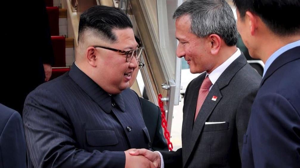 Kim Jong-un Singapur'da