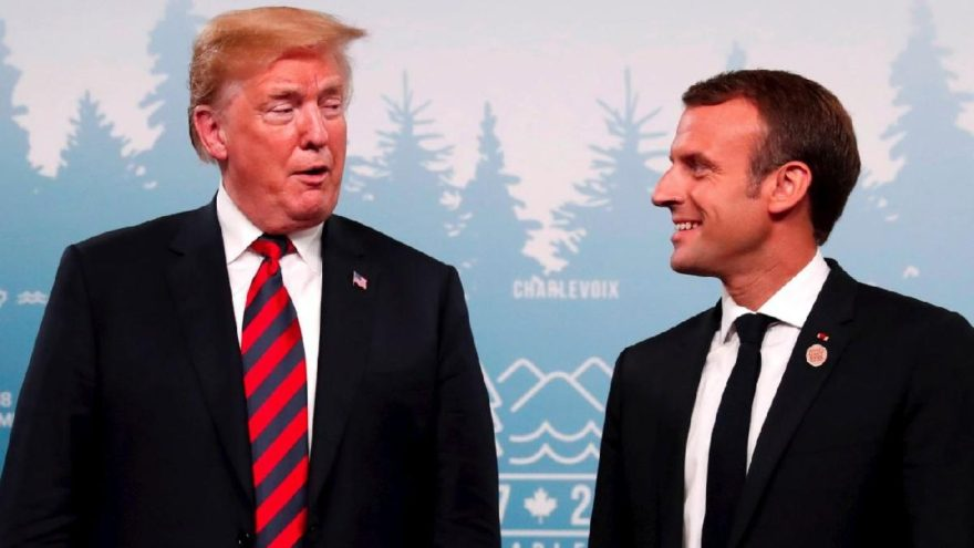 Trump'tan Macron'u şoke eden soru: Neden ayrılmıyorsunuz?