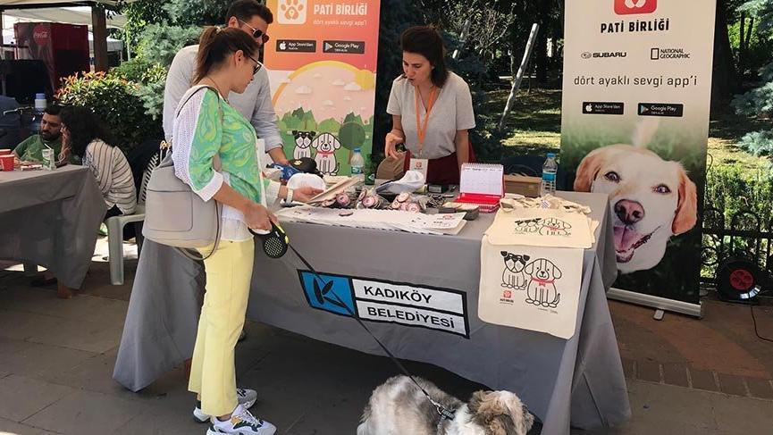 Pati Birliği, sokak köpeklerine yönelik eğitim ve farkındalık çalışmaları için Kadıköy Çevre Festivali'nde