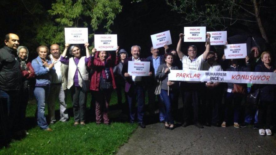 Ankara'da vatandaşlardan 'Parklar Muharrem İnce'yi konuşuyor' etkinliği