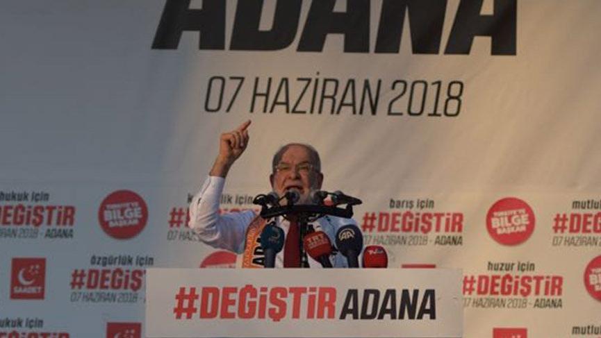 Saadet Partisi Lideri Temel Karamollaoğlu, Adana'da vatandaşlara seslendi