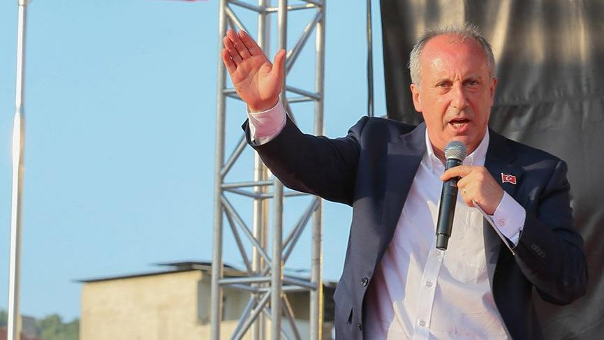 Cumhurbaşkanı adayı Muharrem İnce Eskişehir'de halka hitap etti