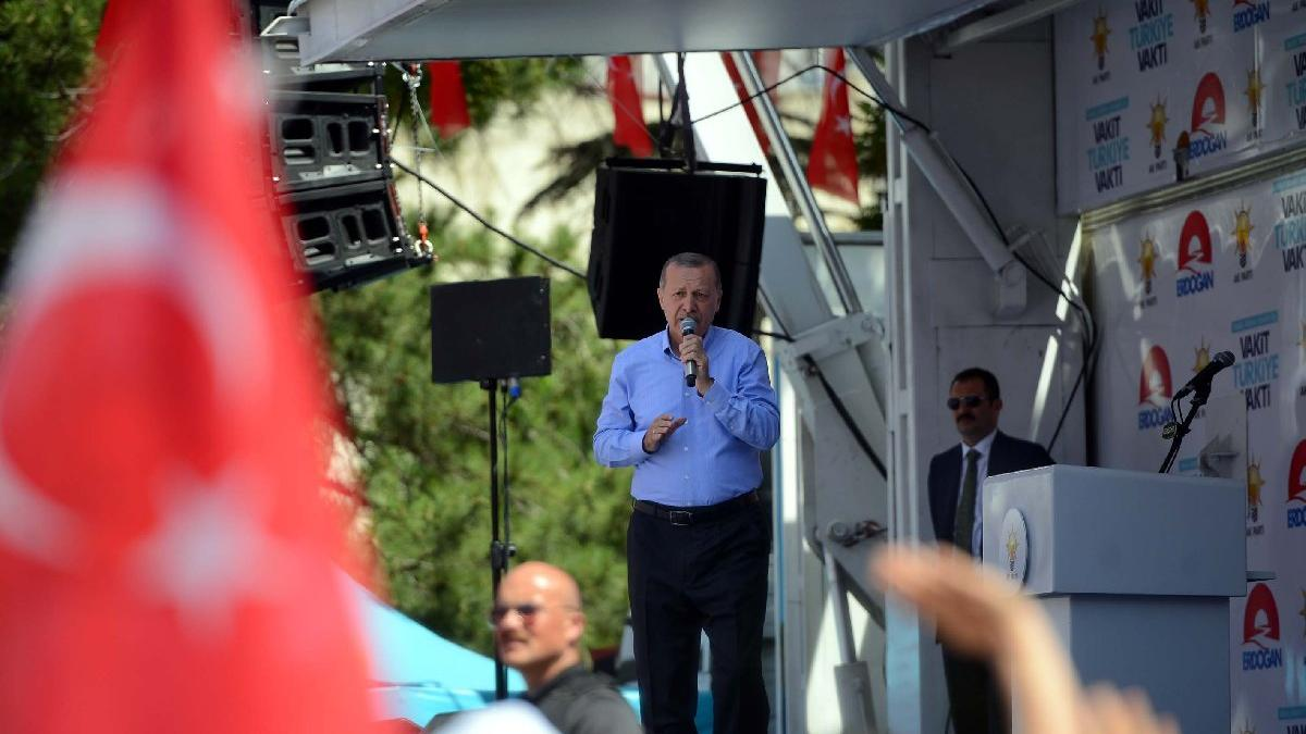 Erdoğan'dan İnce'nin miting için flaş iddia