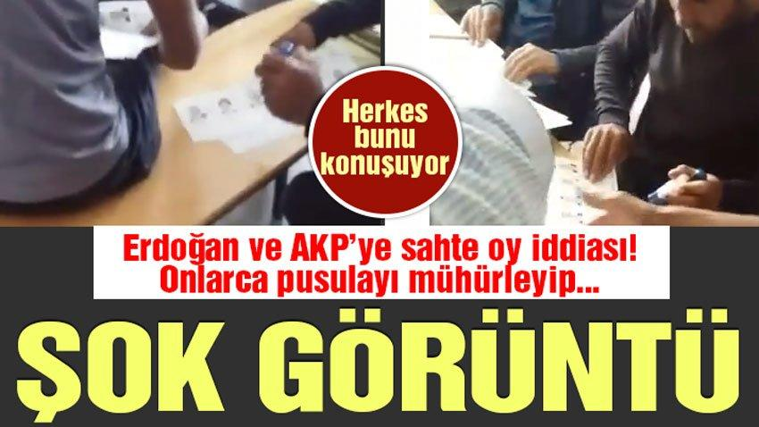 Sandıkta şok görüntüler! Erdoğan ve AKP'ye sahte oy iddiası | Seçim haberleri
