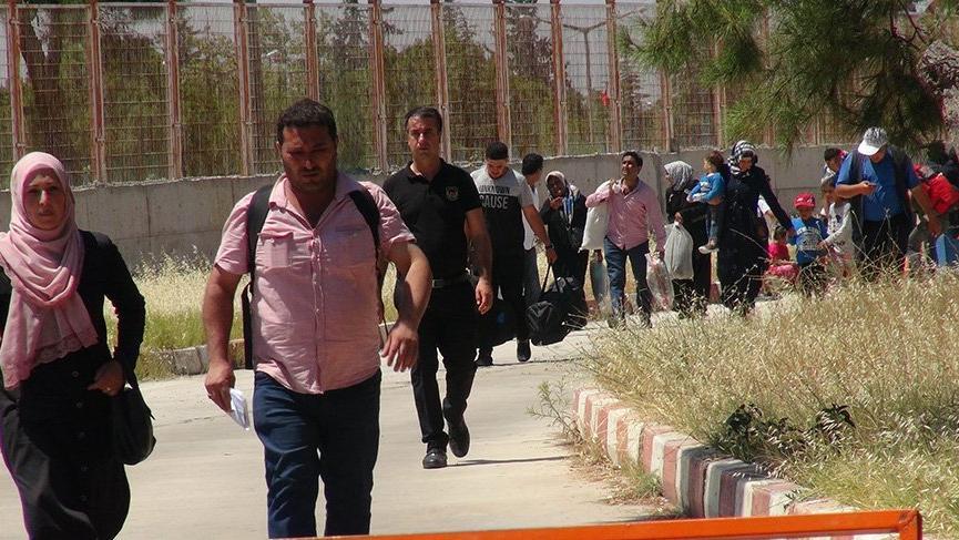 Bayram ziyaretine giden 2 bin Suriyeli geri döndü