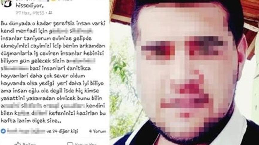 Önce öldürdü sonra sosyal medyadan tehdit etti