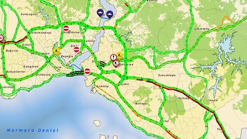 İstanbul'da trafik durumu bayramcılar yüzünden yoğunlaşmaya başladı