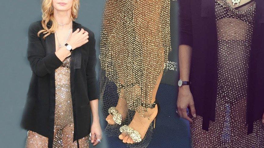 Tuba Ünsal'ın bir etkinlikte giydiği kıyafet sosyal medyanın diline düştü