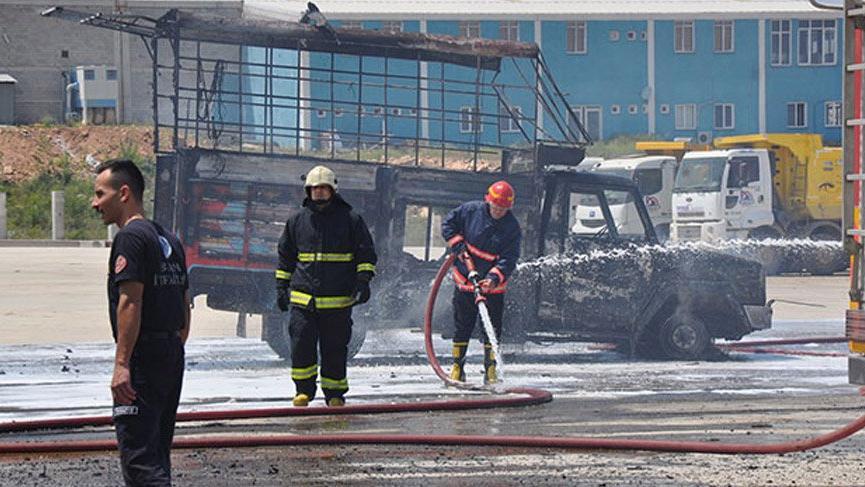 Bursa'da sunta fabrikasında korkutan yangın