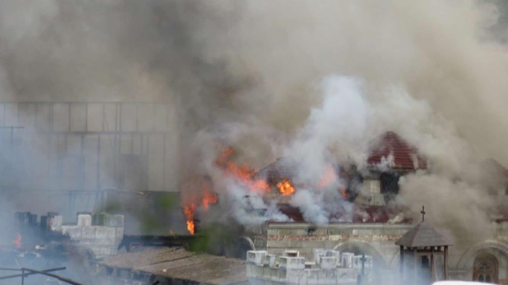 Beykoz'da büyük yangın: Film platosu küle döndü