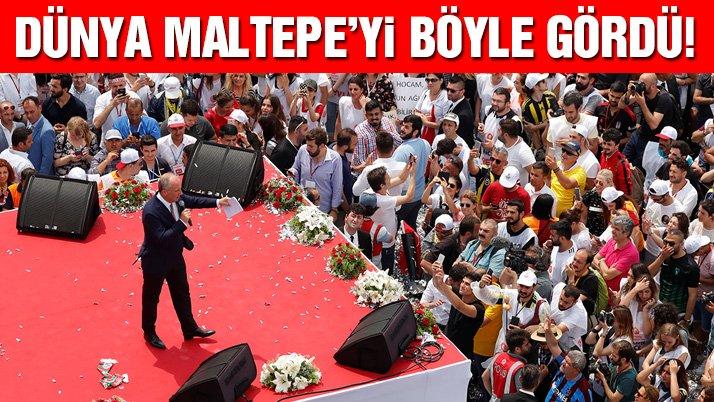 Dünya basını İnce'nin Maltepe'deki dev mitingini böyle gördü