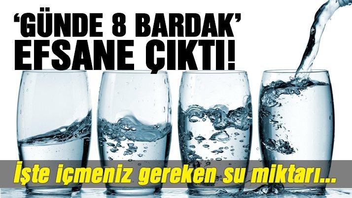 Vücudunuzun ne kadar suya ihtiyacı olduğunu biliyor musunuz?