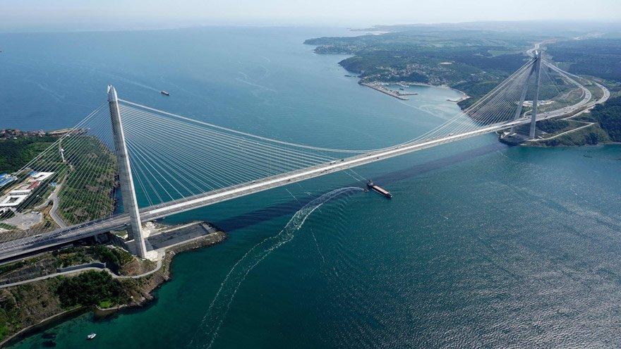 İstanbul Yavuz Sultan Selim Köprüsü - Yavuz Sultan Selim Köprüsü'nde yıllık 49 milyon 275 bin araç garantisi verildi. 15 milyon araç geçti.