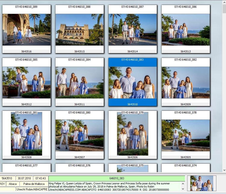 ABACA'nın fotoğraflarında İspanyol kraliyet ailesinden kareler yer alıyor.
