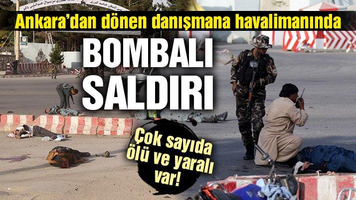 Afganistan Cumhurbaşkanı danışmanı Raşit Dostum'a Ankara dönüşü bombalı saldırı