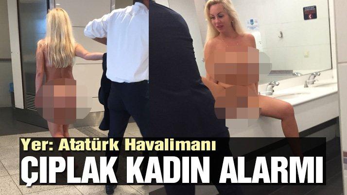 İstanbul'da çıplak kadın turist ortalığı birbirine kattı