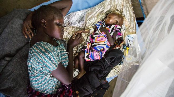 Güney Sudan'da ülkenin yarısı açlıkla mücadele ediyor.