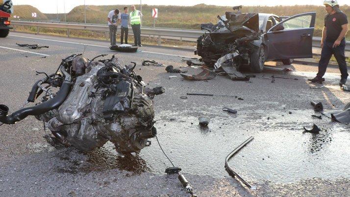 İstanbul'da feci kaza! Motoru fırladı