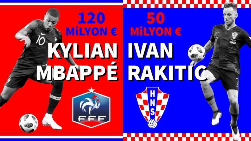 Fransa'nın kadro değeri Hırvatistan'ın üç katı