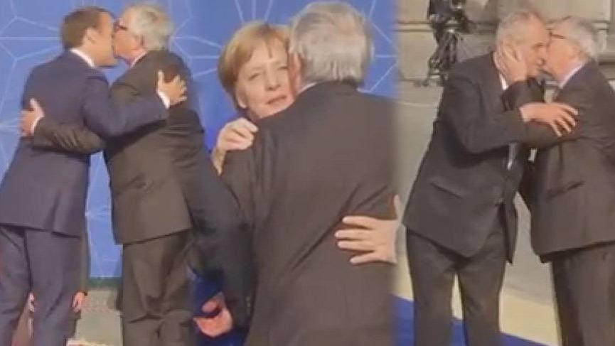Avrupa Komisyonu Başkanı Juncker'den ilginç görüntüler