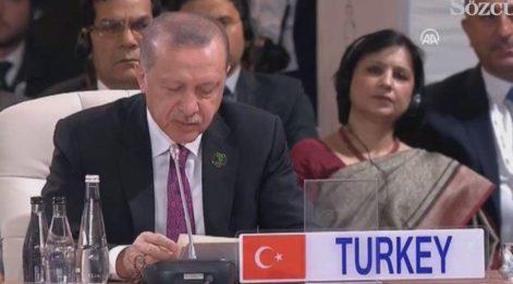 Cumhurbaşkanı Erdoğan BRICS Zirvesi'nde
