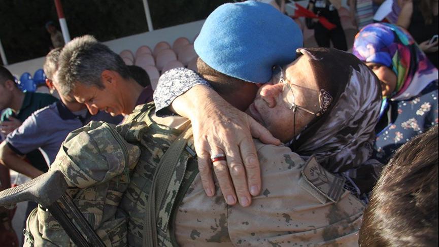 Afrin kahramanları ailelerine kavuştu