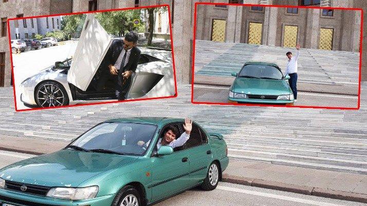 Milletvekili 90'ların unutulmaz Corolla'sıyla Meclis'e geldi