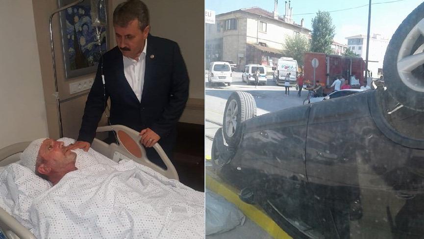 Mustafa Destici'nin ağabeyi kazada yaralandı
