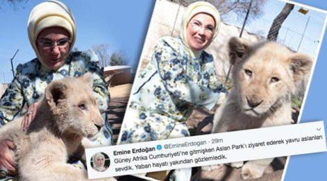 Emine Erdoğan Aslan Park'ı ziyaret etti