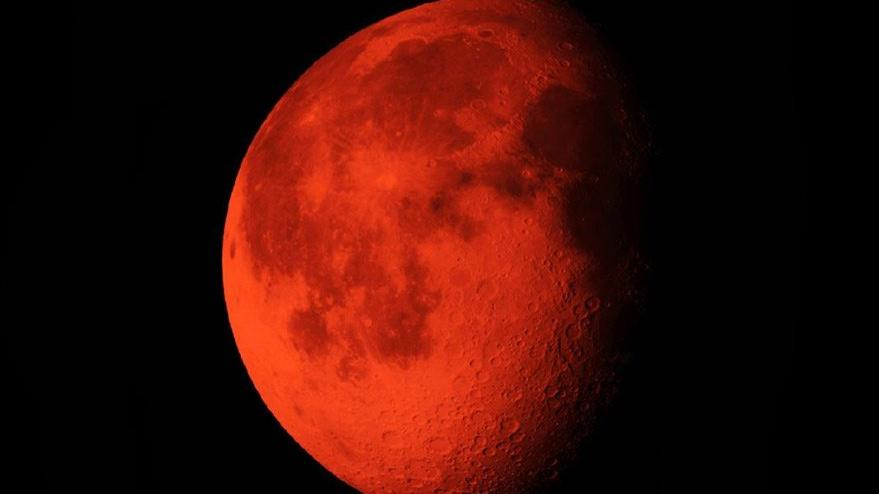 Kanlı ay tutulması kıyamet alameti mi? Korkutan Kanlı Ay tutulması iddiası…