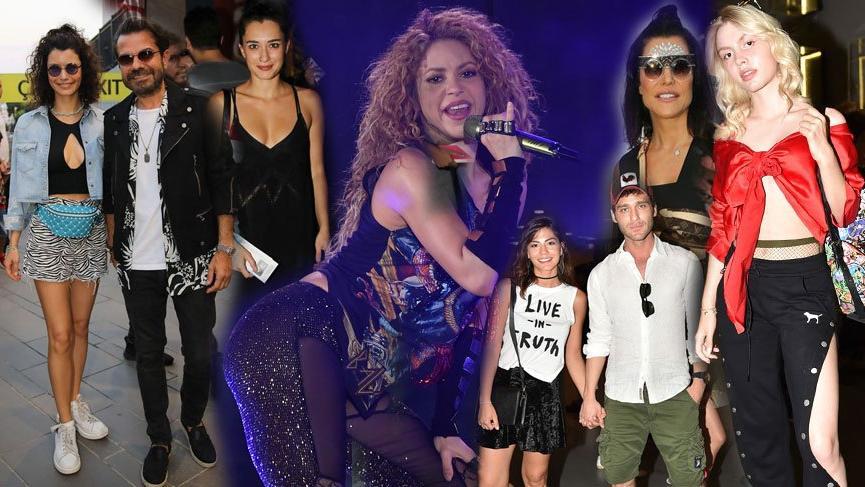 Shakira konserine ünlüler akın etti