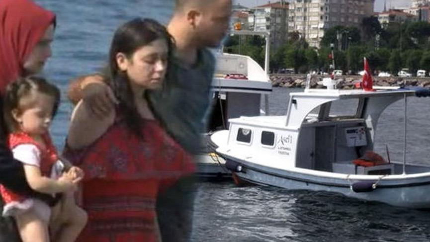 Kartal sahilinden denize açılan aile faciayı yaşadı